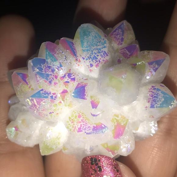 """Other - Angel Aura Quartz Crystal Titanium """"authentic"""""""